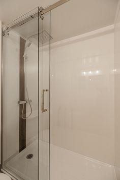 bathroom... bathtub replaced with a shower