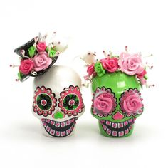 Skull Wedding Cake Topper A00162