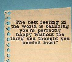 the best feeling...