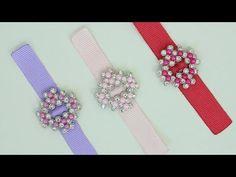 (5) Passo a passo: Decoração para laços de manta de strass/Pérolas - YouTube