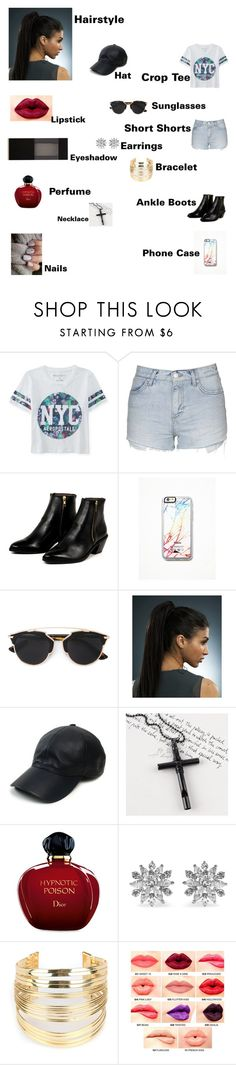 """""""Serena's outfit for day in Rio De Janeiro, Brazil"""" by onedirectionforever1297 on Polyvore featuring Aéropostale, Topshop, AZI, Free People, Christian Dior, Vianel, Trend Cool, Kenneth Jay Lane, WithChic and NYX"""