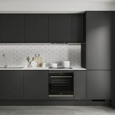 Kitchen Units, Howdens Kitchens, Open Plan Kitchen Living Room, Kitchen Furniture Design, Kitchen Fittings, Modern Kitchen Design Grey, Kitchen Surfaces, Modern Kitchen Design, Charcoal Kitchen