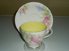 Vintage teacup and saucer Old Royal china vintage by DivaDecades