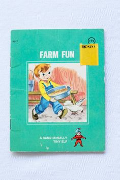 https://www.etsy.com/shop/Petitpoesy Farm Fun Children's Book, A Rand McNally Tiny Elf, Small Paperback 1968, by Jane Tobin and pictures by Kathleen L. Phillips