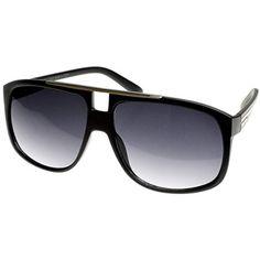 ce890ef8a Mens Eyewear Modern Fashion Square Aviator Style Sunglasses w/Metal  Crossbar * Learn more by