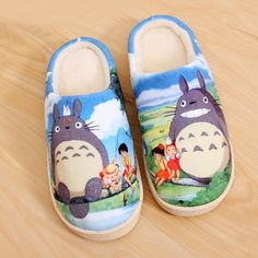 Camplayco Tonari no Totoro Warm Winter Soft Slippers Cosplay Size:8 (US) -- More info could be found at the image url.
