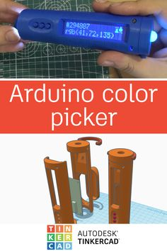 The Arduino Color Picker, with a print enclosure designed in Tinkercad, is a device that will let you pick any color from real life object and display it in convenient way so you can use it in any drawing software. Robotics Projects, Pi Projects, Arduino Projects, Electronics Projects, Tech Hacks, Hacks Diy, Autonomous Robots, Esp8266 Wifi, Drawing Software