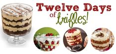 Trifles are ALL the rage around the holidays because they're easy to make and delicious to eat! See our 12 picks for holiday trifles! Trifle Bowl Recipes, Trifle Recipe, Dessert Recipes, Christmas Trifle, Christmas Sweets, Christmas Cooking, Christmas Goodies, Caramel Apple Trifle, Chocolate Trifle