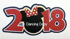 Disney die cut, Disney scrapbooking, 2018 Disney year Minnie Mouse Ears, Disney World, Disneyland