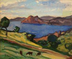 Charles Camoin. Paysage Corse aux trois chèvres (1908)