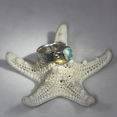 Hey, I found this really awesome Etsy listing at https://www.etsy.com/listing/592546424/bitchin-blue-welo-opal-ring-set-in