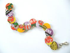 Recycled Plastic Bracelet by HeidiKindFinds