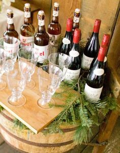 Plan a Midwest Tree-Trimming Party | Midwest Living  Set up an adult beverage bar and a separate one for kids that could include hot cocoa and dishes of marshmallows, sprinkles, peppermint sticks, etc.
