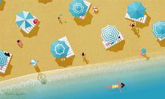 Adriatico    #illustration #beach #summer #holiday #sea #weekend #vector #shadows #picame #illustree #illustrationage #thedesigntip