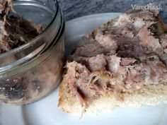 Rillettes z pomalého hrnca (fotorecept) - Recept Oatmeal, Pork, Meat, Breakfast, The Oatmeal, Kale Stir Fry, Morning Coffee, Rolled Oats, Pork Chops