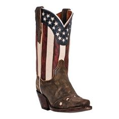 "Dan Post Women's 11"" Liberty Stars & Stripes Boots"