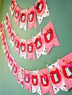 Shabby Chic inspired Hello Kitty birthday banner! Created by ThePerfectionista on Etsy