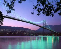 Lions Gate Bridge and the hills of West Vancouver ~ Vancouver tourism photo Vancouver Bc Canada, Vancouver British Columbia, Downtown Vancouver, Vancouver Island, Vancouver Tourism, Vancouver Photos, World Beautiful City, Most Beautiful Cities, Lions Gate