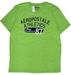 Aeropostale  Casual Cotton T Shirt  Light Green, Size XL $12.95