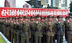 조선민주주의인민공화국 정부 성명을 전폭적으로 지지하며 싸움준비에 총력을 다하여 반미대결전의 최후승리를 기어이 이룩할것을 결의하는 인민무력성 군인집회 진행