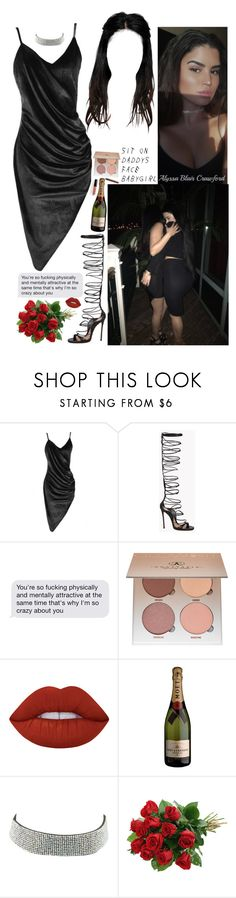 """Sit in my whip & see the stars. Show me who you are."" by allie-blair ❤ liked on Polyvore featuring Boohoo, Dsquared2, Anastasia Beverly Hills, Lime Crime and Charlotte Russe"