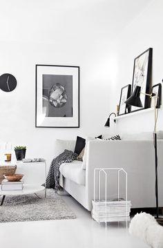 Decoração Inverno - Preto e Branco - Winter Decoration - Black and White