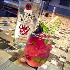 Bacardi Razz Cocktail - For more delicious recipes and drinks, visit us here: www.tipsybartender.com