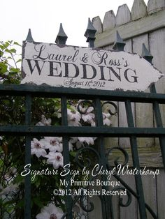 CUSTOM WEDDING ARROW, This Way To The Wedding Sign, Vintage Wedding Sign, Romantic Weddings, Custom Wedding Sign. $39.00, via Etsy.