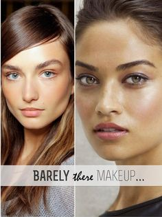 Barely there makeup {love the second look}