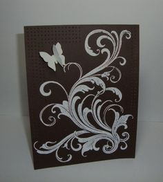 Brown Flourish tee by YLM - Cards and Paper Crafts at Splitcoaststampers