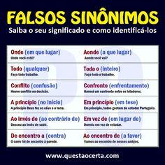 Falsos Sinônimos