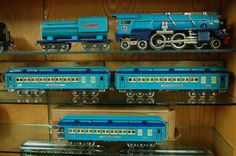 Pre-war Lionel Trains 400E Nickel Trim Blue Comet Set Original Boxes