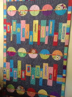 """""""Okay, now my quilt can talk and tell the story of my first modern quilt!  How cool is that?"""""""