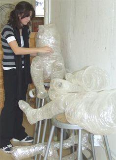 http://www.art-rageous.net/PackingTapeSculpture.html