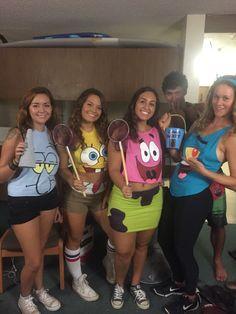 SpongeBob Patrick Squidward and Plankton costumes for Halloween #college…