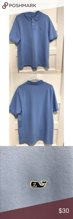 Vineyard Vines classic fit polo Size large light blue classic fit Vineyard Vines polo. Very lightly worn. Vineyard Vines Shirts Polos