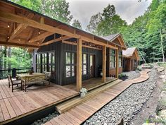 Small House Design, Cottage Design, Modern House Design, Small Cabin Designs, Small Modern Cabin, Tiny House Cabin, Cabin Homes, My House, Plan Chalet