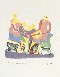 Henry Moore >> dos asentados mujeres