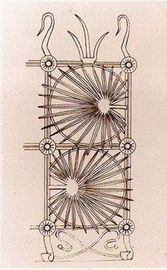 Gaudi's sketch of the wrought iron gate at Casa Vicens.   The design is inspired by palm trees and wild flowers growing on the site
