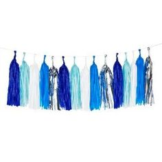 Blue Mix Tassel Garland by My Little Day www.theoriginalpartybagcompany.co.uk