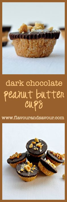 Dark Chocolate Peanut Butter Cups. In your mouth in 20 minutes, including kitchen clean-up! |www.flavourandsavour.com