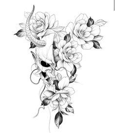Japanese Mask Tattoo, Japanese Flower Tattoo, Japanese Tattoo Designs, Flower Tattoo Designs, Flower Tattoos, Japanese Sleeve Tattoos, Japan Tattoo Design, Sketch Tattoo Design, Tattoo Sketches