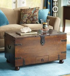 Out with the clutter, in with a rustic new trunk