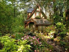 Tudor cottage in woods. My new home, I hope, will be a tudor style cottage. Tudor cottage in woods. My new home, I hope, will be a tudor style cottage. Tudor Cottage, Tudor House, Cottage Homes, Cottage Style, Storybook Homes, Storybook Cottage, Cottage In The Woods, Cozy Cottage, Garden Cottage