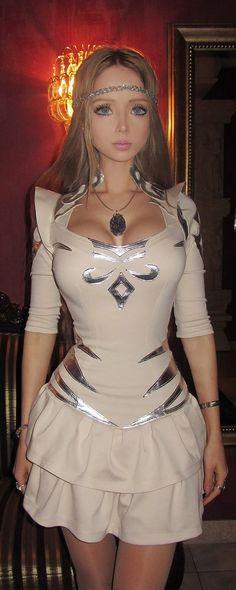 Valeria Lukyanova known as the Real Life Barbie. Crazy! I think she's so pretty!