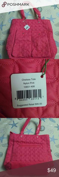 "NWT Vera Bradley Tote Hot pink Vera Bradley quilted ""Chelsea"" tote. Never used. Beautiful bag! Vera Bradley Bags Totes"