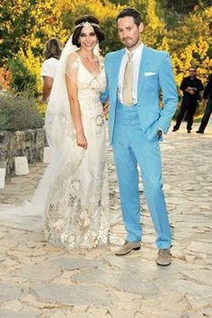 wedding dress blue damatlık