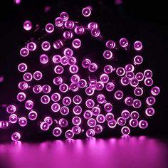 ledertek solar christmas lights 72ft 22m 200 led 8 modes solar fairy string lights for outdoor gardens homes wedding christmas party waterproof 200