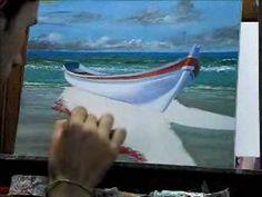Oleo Sobre tela - Daniel Amaral (barco) - YouTube