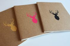 Stag Printed Moleskine Notebook